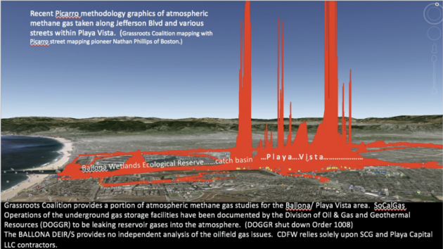 **Recent Picarro graphics of Atmospheric methane gas taken along Jefferson Blvd and various streets within Playa Vista._0.png