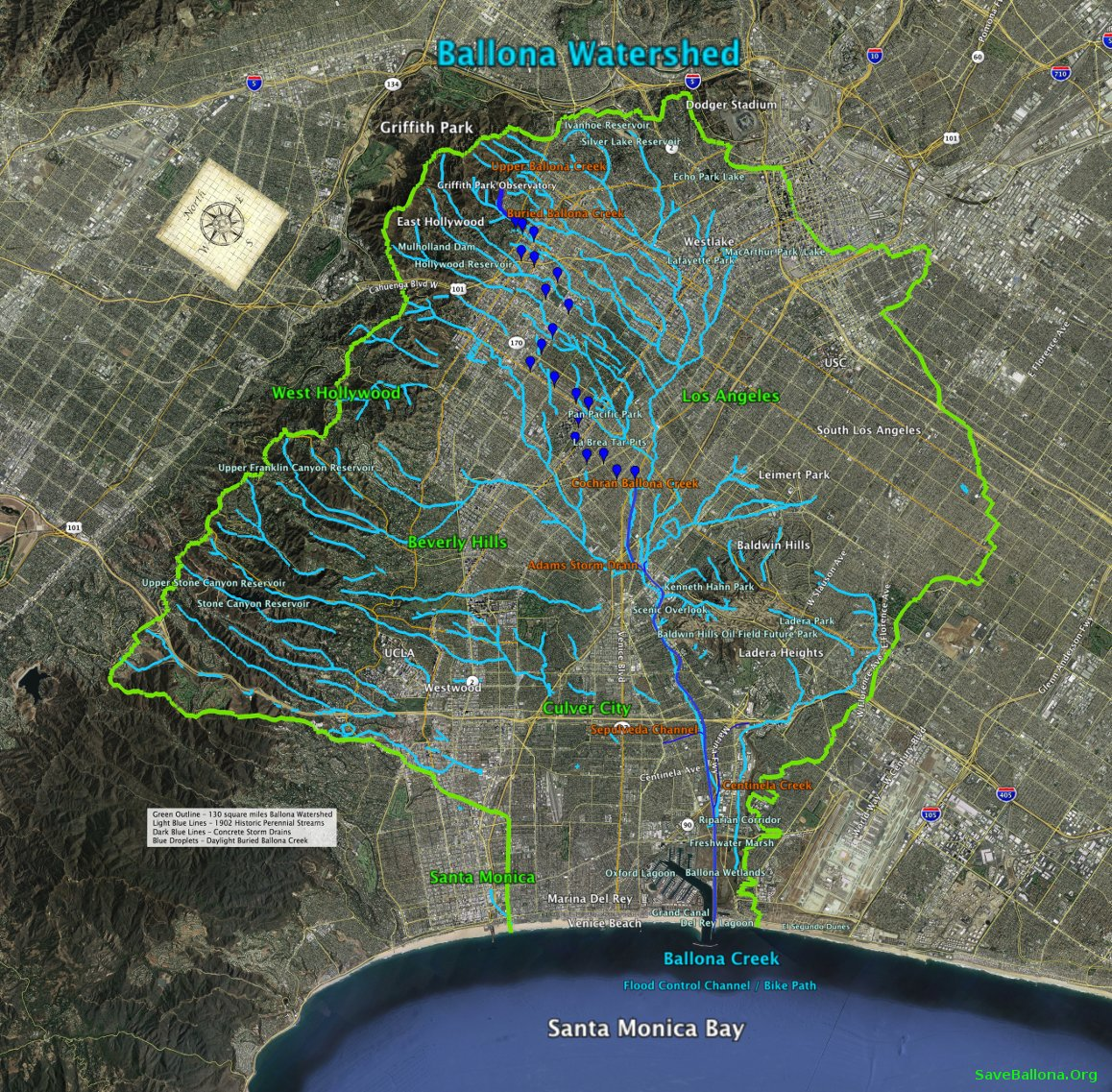 FUN EXPLORING THE BALLONA WATERSHED WITH OUR INTERACTIVE MAP - Interactive map us watershed