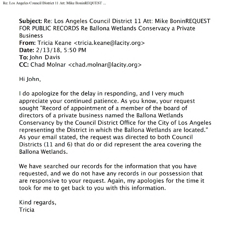 Email.Request.For_.Public.Records.regarding.Ballona.Wetlands.Conservacy.is_.a.private.business.2-13-2018